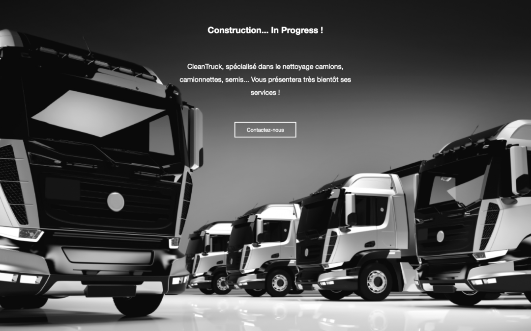 Creation site vitrine pour cleantruck.be