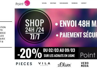 Réalisation site e-commerce, Pointb.be