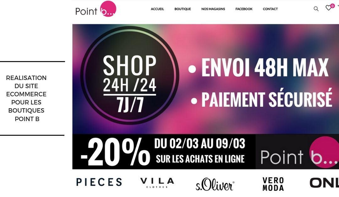 Réalisation boutique en ligne PointB